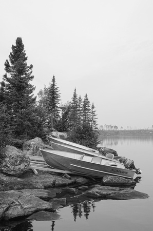 Boats on the Shore | Larus Lake, Ontario, Canada