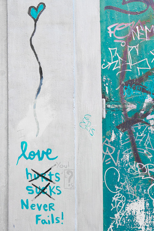 Love Never Fails Graffiti | Florence, Italy