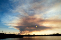 Forest Fire at Sunset | Kenora, Ontario, Canada